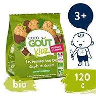 Good Gout BIO Maslové zvieratká polomáčané v horkej čokoláde 120 g - Sušienky pre deti