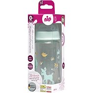 Nip Glass bottle with a wide neck 240 ml girl - Baby Bottle