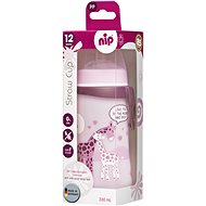 Nip Straw cup with a straw 330 ml girl - Children's Water Bottle