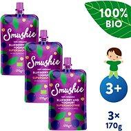 SALVEST Smushie BIO Ovocné smoothie s čučoriedkami, jogurtom a quinoou 3× 170 g