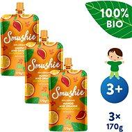 SALVEST Smushie BIO Ovocné smoothie s mangom, pomarančom a datľami 3× 170 g