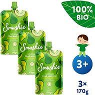 SALVEST Smushie BIO Ovocné smoothie s hruškou, kiwi a spirulinou 3× 170 g