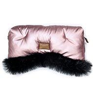 Floo for Baby Rukávnik Alaska shine pink/black - Rukávnik na kočík
