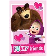 """Jerry Fabrics  Detská deka Masha and the Bear """"Friends"""" - Deka"""