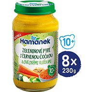 HAMÁNEK Vegetable puree with red lentils and oatmeal 8 × 230 g - Baby Food