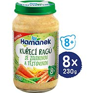 HAMÁNEK Chicken ragout with vegetables and pasta 8 × 230 g - Baby Food
