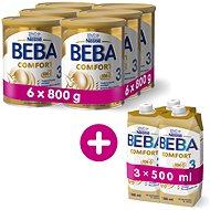 BEBA COMFORT 3 HM-O (6× 800 g) + 3× BEBA COMFORT Liquid 3 HM-O (500 ml) - Dojčenské mlieko