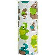 T-tomi BIO Bamboo towel green elephants - Children's Bath Towel