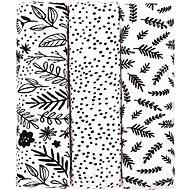 T-tomi Látkové TETRA plienky black flowers - Látkové plienky