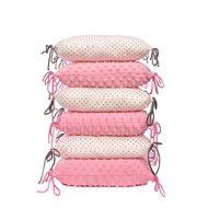 T-tomi Cushion Crib Bumper, White / Little Grey Dots - Crib Bumper
