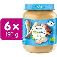 NESTLÉ NaturNes BIO Teľacie mäso s paštrnákom a sladké zemiaky 6× 190 g - Príkrm