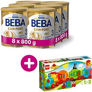 BEBA COMFORT 3 HM-O (8× 800 g) + Lego Duplo Vláčik s číslami