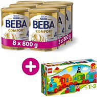 BEBA COMFORT 4 HM-O (8× 800 g) + Lego Duplo Vláčik s číslami
