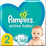 PAMPERS Active Baby veľ. 2, 168 ks - Detské plienky