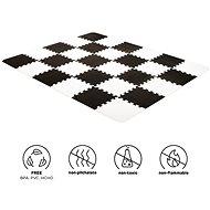 KINDERKRAFT Podložka penové puzzle Luno 30 × 30 cm Black & White 30 ks - Penové puzzle