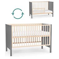 KINDERKRAFT Wooden bed with barrier Mia Gray - Cot