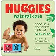 HUGGIES Natural Triplo (3× 56 ks) - Detské vlhčené obrúsky