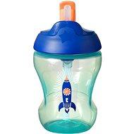 Tommee Tippee Straw Cup netečúci hrnček so slamkou 7 mes.+, Blue, 230 ml - Detský hrnček