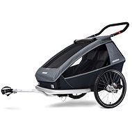 CROOZER KID FOR 2 PLUS Vaaya 2v1 Graphite Blue 2020 - Vozík za bicykel