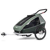 CROOZER KID FOR 2 PLUS Vaaya 2v1 Jungle Green 2020 - Vozík za bicykel