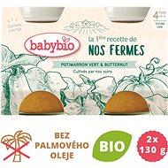 BABYBIO, Zelená a maslová tekvica z našej vlastnej ekofarmy,  2× 130 g - Príkrm