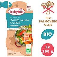 BABYBIO, Jarná zelenina s lososom a makarónmi, 2× 200 g - Príkrm