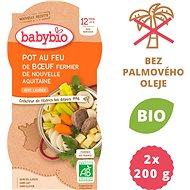 BABYBIO, Dusené hovädzie mäso so zeleninou, 2× 200 g - Príkrm