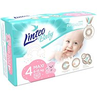 LINTEO Baby Prémium MAXI (8 – 15 kg), 50 ks - Detské plienky