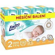 LINTEO Baby Prémium MINI (3 – 6 kg), 136 ks - Detské plienky