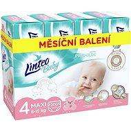 LINTEO Baby Prémium MAXI (8 – 15 kg), 200 ks - Detské plienky
