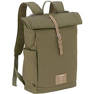 Funny Green Label Rolltop Backpack olive - Nappy Changing Bag