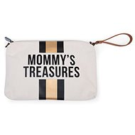 CHILDHOME Case with Loop Off White / Black Gold - Make-up Bag