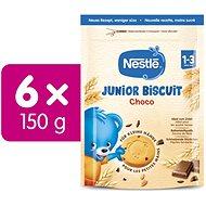 NESTLE Junior Biscuit Chocolate 6× 150 g - Sušienky pre deti