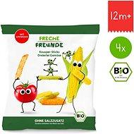 Freche Freunde BIO Zeleninové tyčinky s paradajkou, kukuricou a hráškom 4× 30 g - Chrumky pre deti