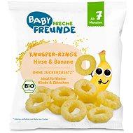 Freche Freunde BIO Chrumkavé krúžky – Proso a banán 20 g - Chrumky pre deti