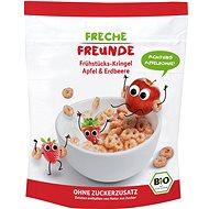 Freche Freunde BIO Cereálie Chrumkavé krúžky – Jablko a jahoda 125 g