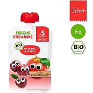 Freche Freunde BIO Kapsička Slivka a jablko 6× 100 g - Príkrm