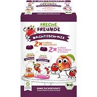 Freche Freunde BIO MIX – Krupica s jablkom, jahodou, malinou a broskyňou 4× 100 g - Príkrm