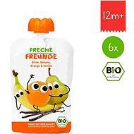 Freche Freunde BIO Kapsička Hruška, banán, pomaranč s vanilkou 6× 100 g - Príkrm