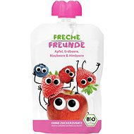 Freche Freunde BIO Kapsička Jablko, jahoda, čučoriedka a malina 100 g - Príkrm