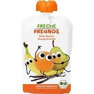 Freche Freunde BIO Kapsička Hruška, banán, pomaranč s vanilkou 100 g - Príkrm