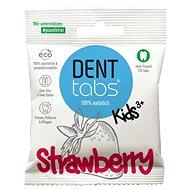 DentTabs detská zubná pasta v tabletách bez fluoridu jahoda 125 ks