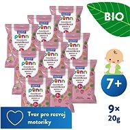 SALVEST Ponn BIO Jahodové křupky (9× 20 g) - Chrumky pre deti
