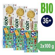 Good Gout BIO Bee´scuits, sušienky s medom a kúskami čokolády (3× 100 g)