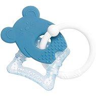 Nattou hryzadlo silikónové s chladiacou časťou bez BPA modré, myška - Hryzadlo