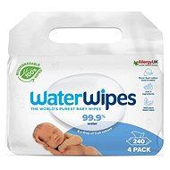 Waterwipes 100% ORGANIC Degraded Napkins 4 × 60 pcs - Baby Wet Wipes