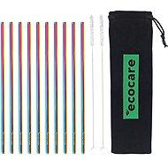 ECOCARE Kovové slamky Set Rainbow 10 ks