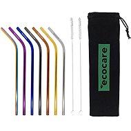 EcoCare Kovové slamky Set Mix Bent 7 ks