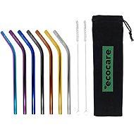 ECOCARE Kovové slamky Set Mix Bent 8 mm 7 ks