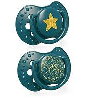 LOVI cumlík silikónový dynamický Stardust 0 – 3 mes. 2 ks, zelený